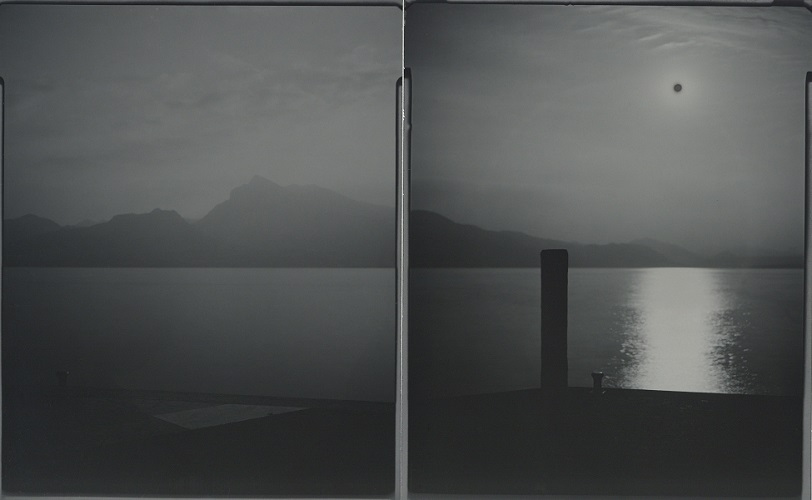 Burning Time #359. Two 4x5 inches gelatin silver papers. Unique, 2020.